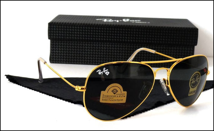 عینک آفتابی ریبن اصل و اورجینال شیشه سنگی-دیاموند هارد