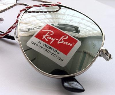 عینک آفتابی خلبانی ریبن شیشه جیوه ای